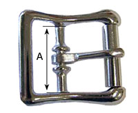 40Z Center Bar Buckles with Rollers - 2
