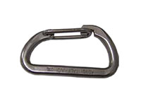 580-08 Italian Stainless Steel Carabiner Hooks with Wire Tongue