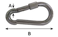 2450SS Safety Hooks with Screw Nut - 2