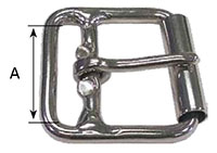 999SS Double Bar Roller Buckles - 2