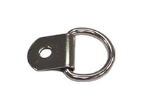 3/4 Inch (in) Dee Inside Width (A) Nickel Plated Finish Clip and Dee Ring (1)