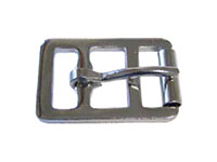 1280ST Stamped English Double Bar Buckles with Roller