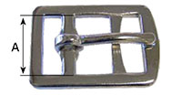 1280ST Stamped English Double Bar Buckles - 2