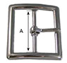 899Z Contoured Center Bar Buckles - 2