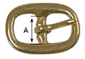 5705B Extra Large Halter Buckles - 2