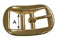 5706HB Heavy Double Bar Halter Buckles - 2
