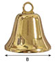 6186SB Brass Liberty Bells - 2