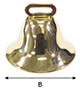 6186 SB Brass Liberty Bells - 2