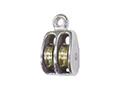 0176M Rigid Round Eye Double Wheel Pulleys