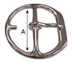 1038SS Heavy Center Bar Girth Buckles - 2