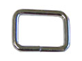 1/2 Inch (in) Inside Width (A) 3/8 Inch (in) Inside Height (B) Nickel Plated Finish Unwelded Loop