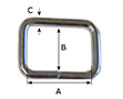 1/2 Inch (in) Inside Width (A) 3/8 Inch (in) Inside Height (B) Nickel Plated Finish Unwelded Loop - 2