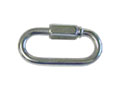1-3/8 Inch (in) Overall Length (B) Nickel Plated Finish Quick Link