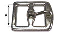 1180ST Stamped Center Bar Girth Buckles - 2