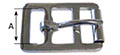 1280ST Stamped English Double Bar Buckles with Roller - 2