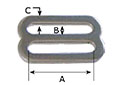 1 Inch (in) Inside Width (A) Nickel Plated Finish Special Heavy Slide - 2